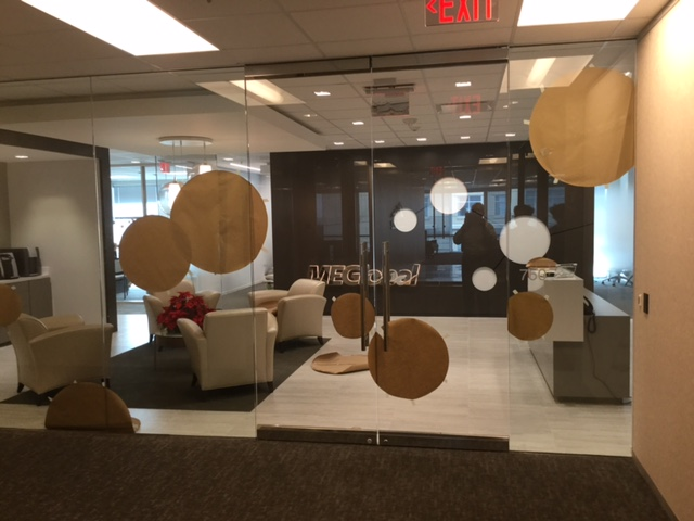Corporate Sales Dresses Up Sales Office with Decorative Glass Film 2