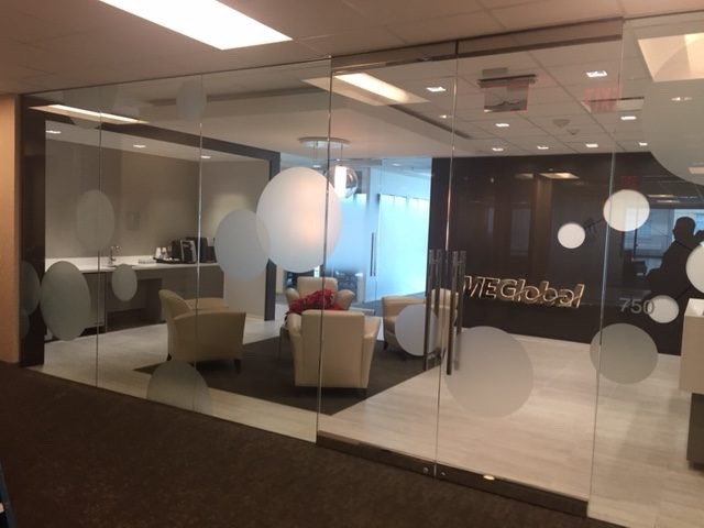 Corporate Sales Dresses Up Sales Office with Decorative Glass Film 3